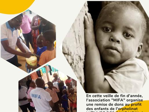 Visite à l'orphelinat l'Oeuvre des Sans Voix de Douala-Bassa