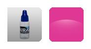 Краска для аэрографии на ногтях -Перламутр розовый