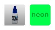 Краска для аэрографии на ногтях - Зеленый неон
