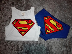 Set Superman Pole Dance wear, pole dance clothes, top pole dance, szorty do pole dance, shorts pole dance, komplet pole dance, zestaw do pole dance, pole dance sklep.jpg
