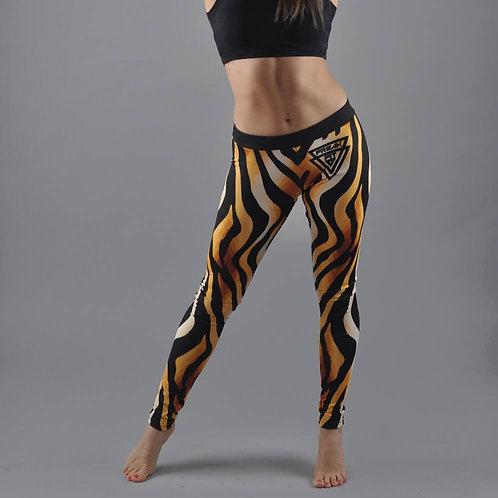 Legginsy Gold Zebra czarno-zlote
