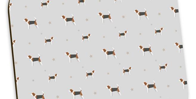 Grey Coaster Set (4) - Busy Beagles