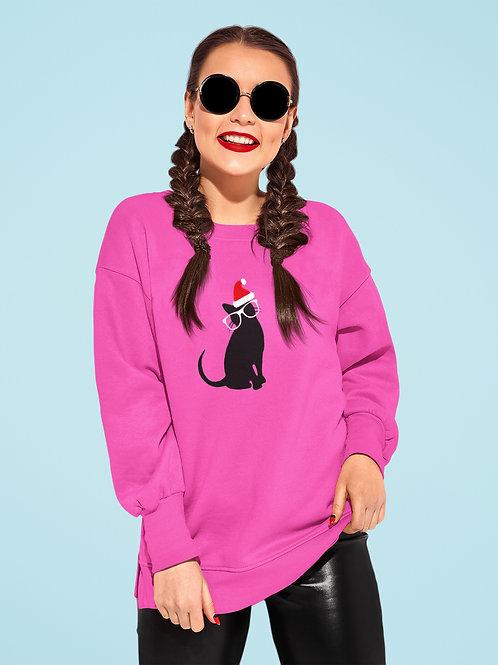 Women's Santa Kitty Sweatshirt