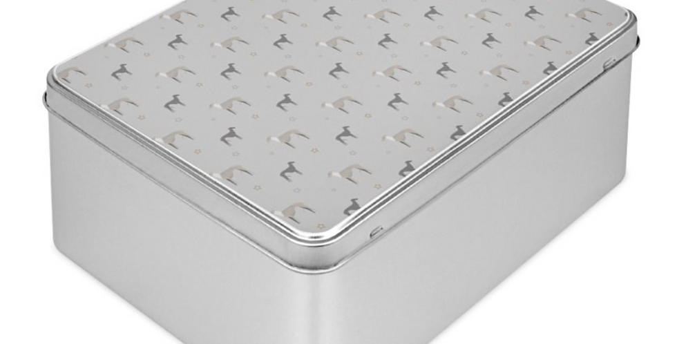 Grey Storage Tin - Whimsical Whippets