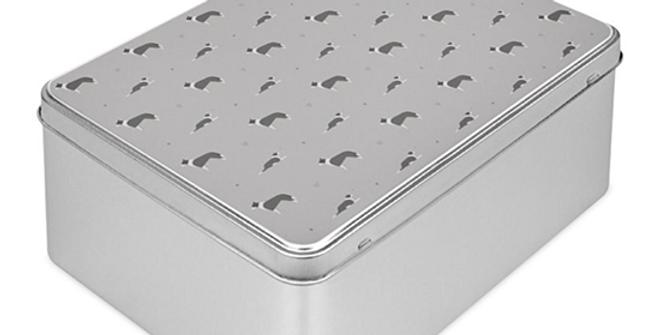 Grey Storage Tin - Cool Collies