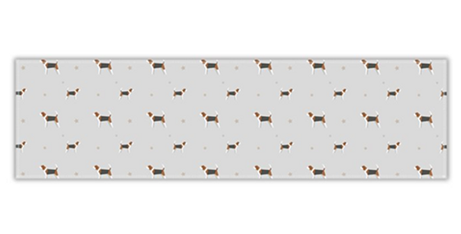 Grey Twill Table Runner - Busy Beagles
