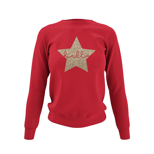 Fiery Red Sweatshirt - Customise Me!