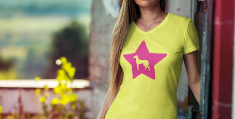 Bright Star Yellow Tee - ANY BREED