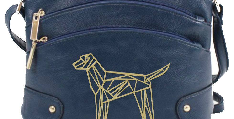 Geo Dog Crossbody Bag - Navy