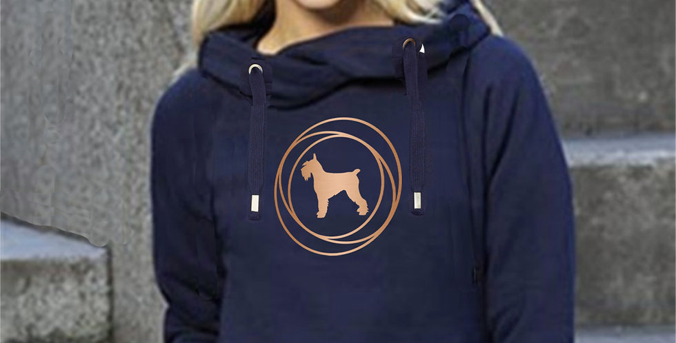 Cowl Neck Circles Hoodie - ANY BREED
