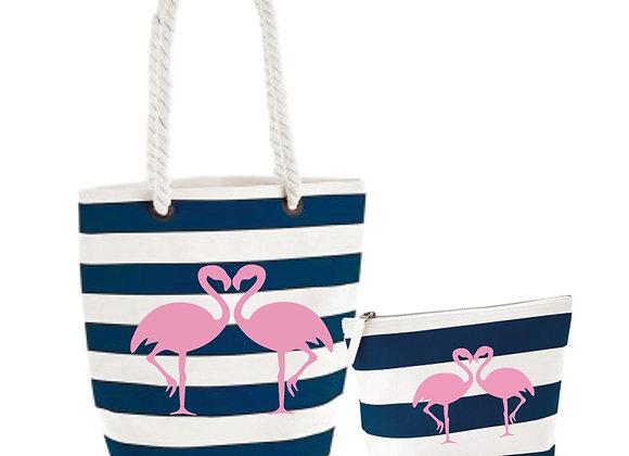 Hola Flamingo Beach Bag Set