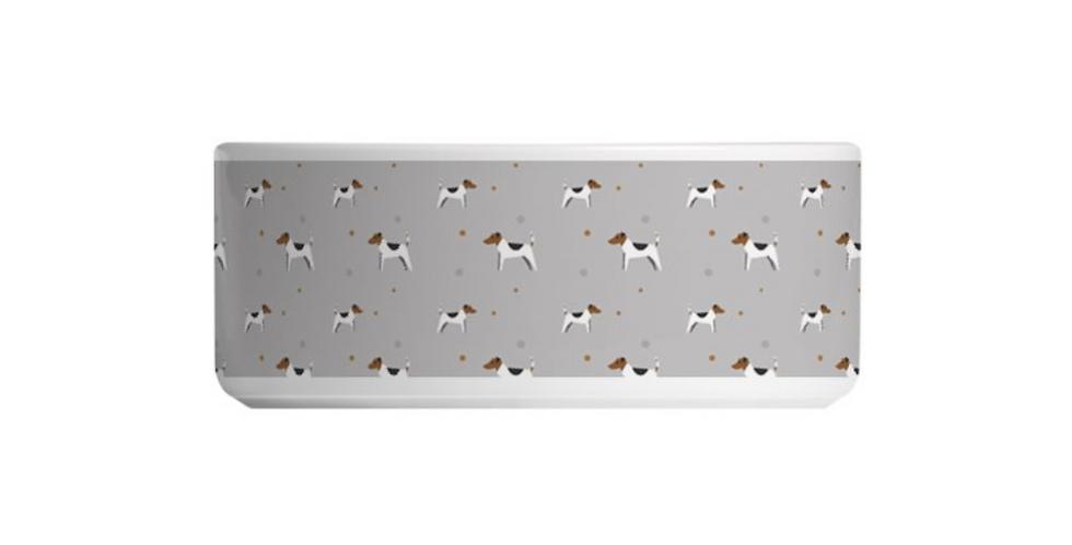 Grey Large Ceramic Dog Bowl - Jazzy Jacks