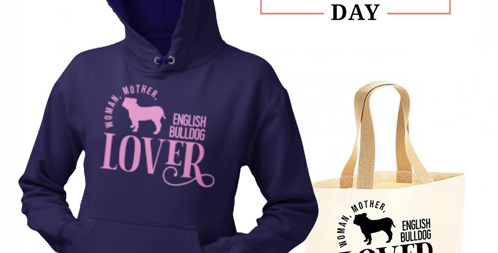 English Bulldog Lover - Shopper & Hoodie Bundle
