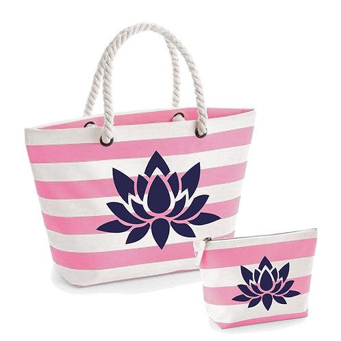 Lotus Flower Beach Bag Set