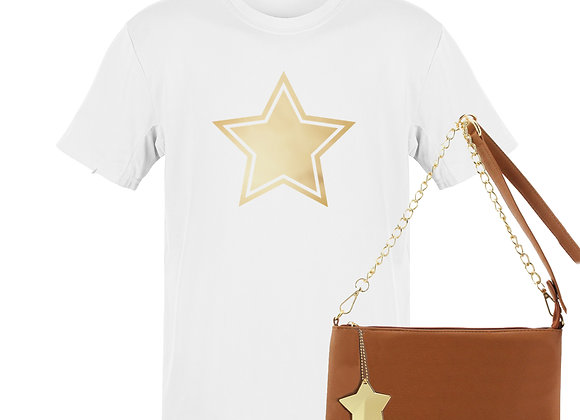 WHITE STAR - Tee & Bag Bundle