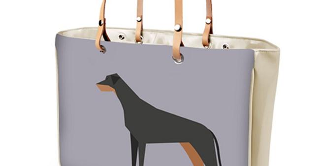 Large Tote Bag - Dazzling Dobermans