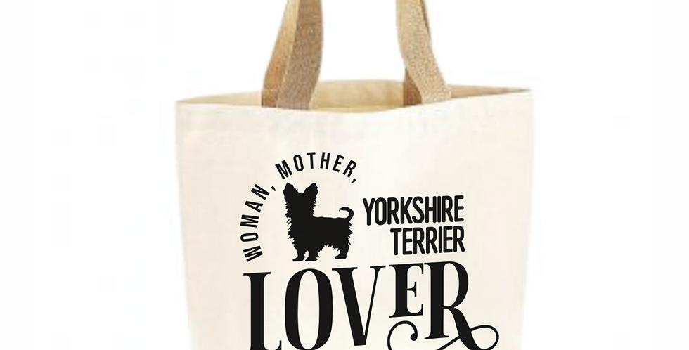 Classic Jute & Canvas Yorkshire Terrier Shopper