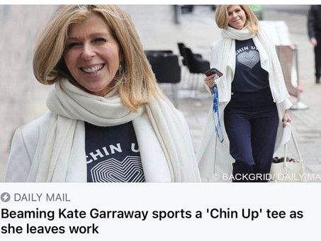Kate Garraway Wears Our Chin Up Tee!