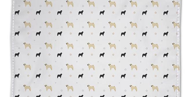 Grey Napkin Set (4) - Perfectly Pug
