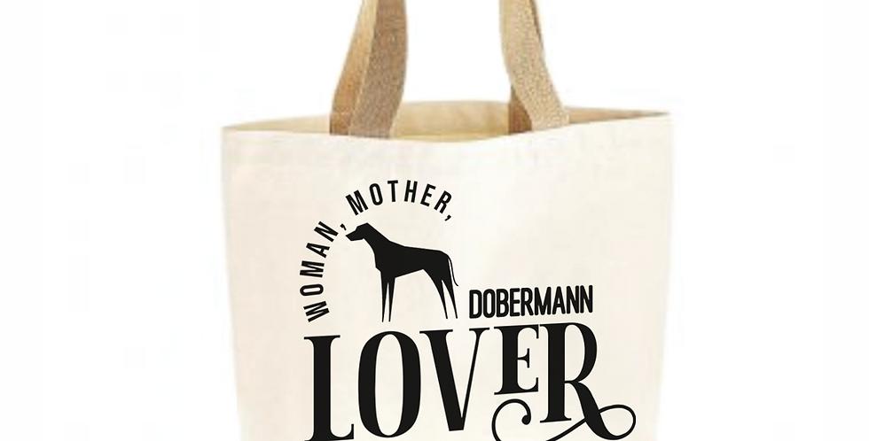 Classic Jute & Canvas Dobermann Shopper