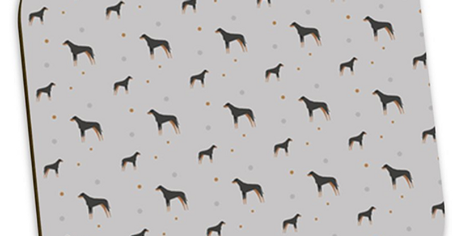 Grey Coaster Set (4) - Dazzling Dobermans