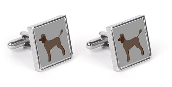 Grey Cufflinks - Playful Poodles