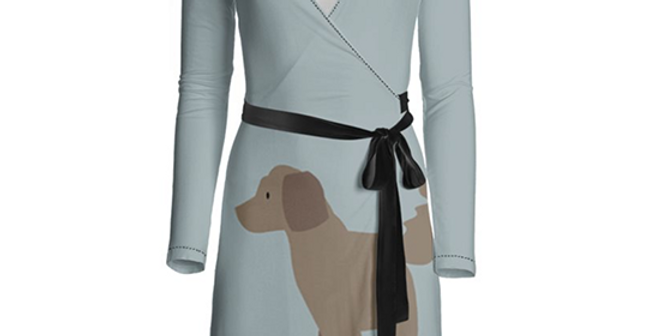 Big Dog Wrap Dress - Dandy Doodles