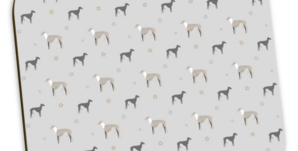 Grey Coaster Set (4) - Whimsical Whippets