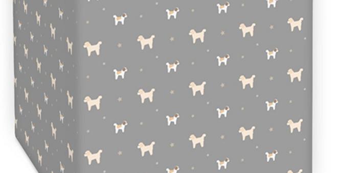 Grey Square Ceiling Shade - Cuddly Cavachons