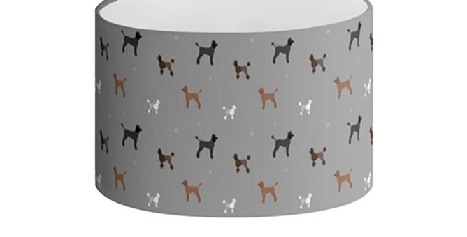 Oval Lampshade - Poodles