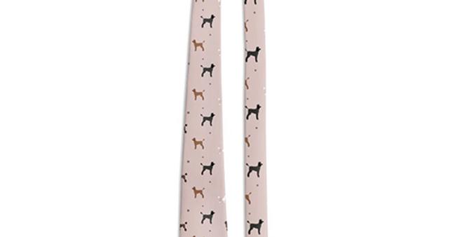 Multi Print Tie - Poodles