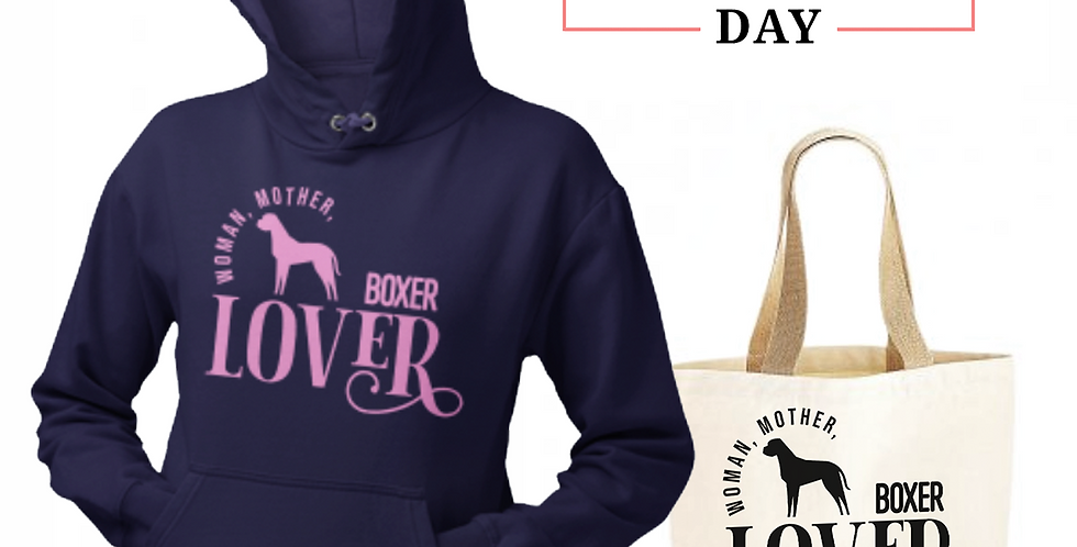 Boxer Lover - Shopper & Hoodie Bundle