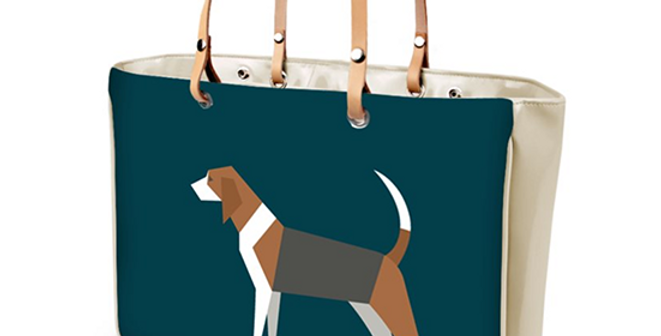 Large Tote Bag - Busy Beagles