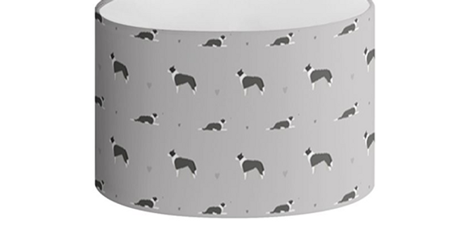 Grey Oval Lampshade - Cool Collies