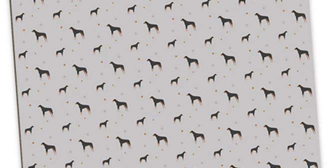Grey Large Placemat Set (4) - Dazzling Dobermans