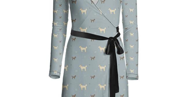 Multi Print Wrap Dress - Dandy Doodles