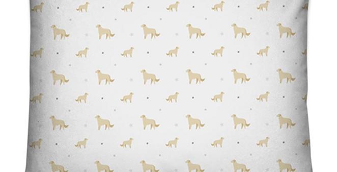 Grey Dog Bed Cushion -Goldens Galore