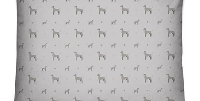Grey Dog Bed Cushion - Valiant Weimaraners