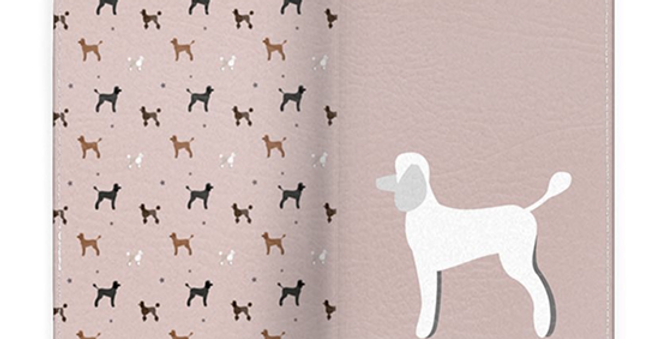 Passport Cover - Playful Poodles