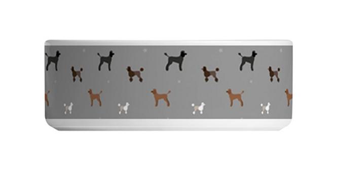 Large Ceramic Dog Bowl - Poodles