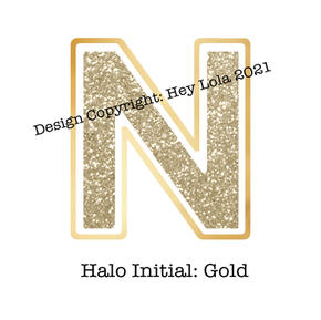Halo Initial - Gold