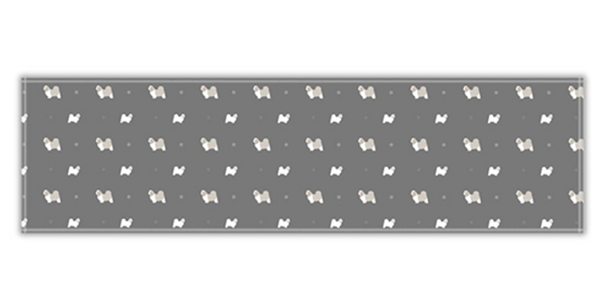 Grey Twill Table Runner - Super Tzus