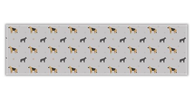 Grey Twill Table Runner - Smart Shepherds