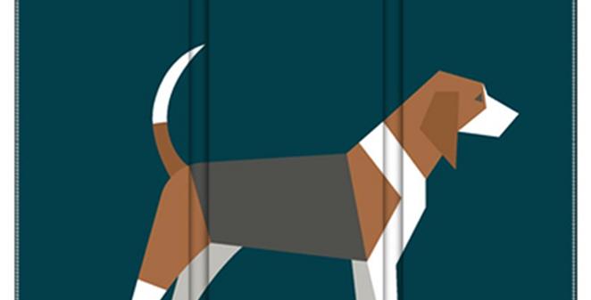 Room Divider Folding Screen - Busy Beagles