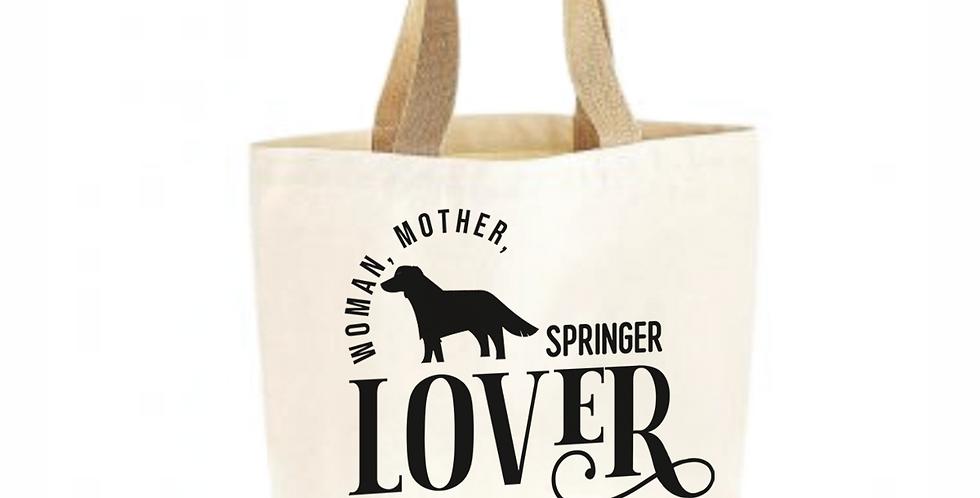 Classic Jute & Canvas Springer Shopper
