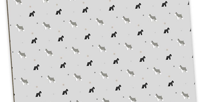 Grey Large Placemat Set (4) - Snazzy Schnauzers