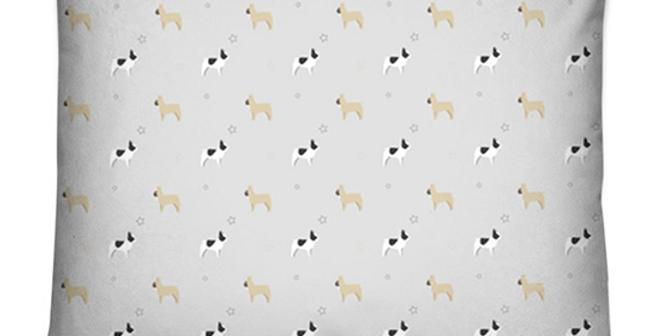 Grey Dog Bed Cushion - Fancy Frenchies