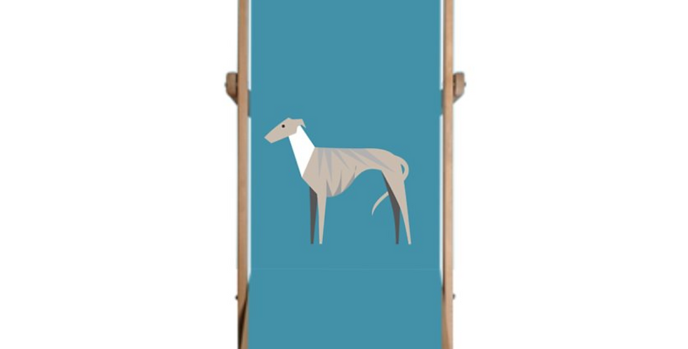 Single Deckchair - Whimsical Whippets