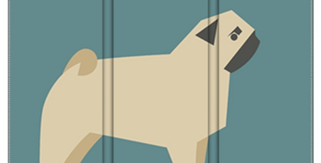 Room Divider Folding Screen - Perfectly Pug