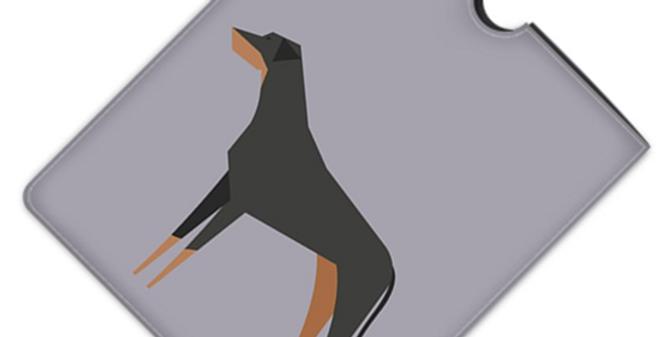 Leather iPad Case (Standard) - Dazzling Dobermans